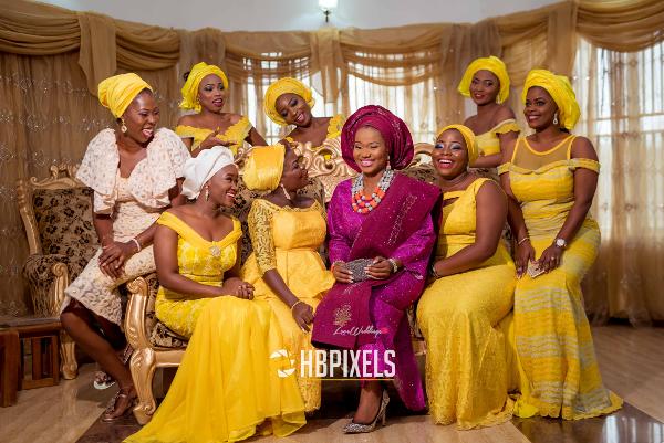 Nigerian Traditional Wedding Bride and Friends Dami & Tobi HB Pixels LoveweddingsNG 1