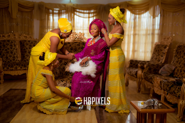 Nigerian Traditional Wedding Bride and Friends Dami & Tobi HB Pixels LoveweddingsNG 3