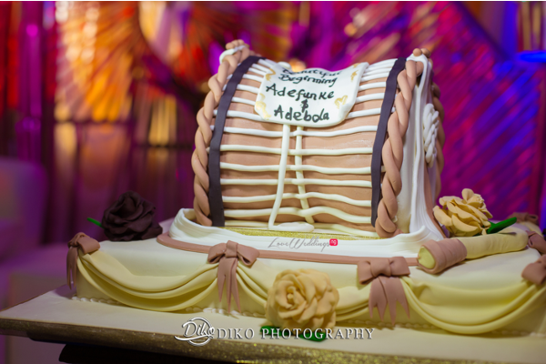 Nigerian Traditional Wedding Cake Adefunke & Adebola Diko Photography LoveweddingsNG