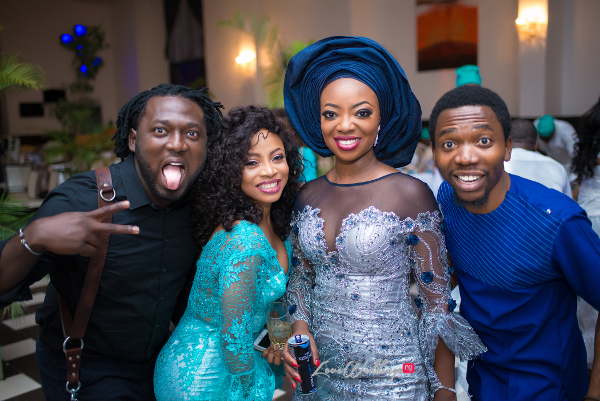 Nigerian Traditional Wedding Kunbi Oyelese Lanre Tomori with Toke Makinwa Jide Odukoya LoveweddingsNG