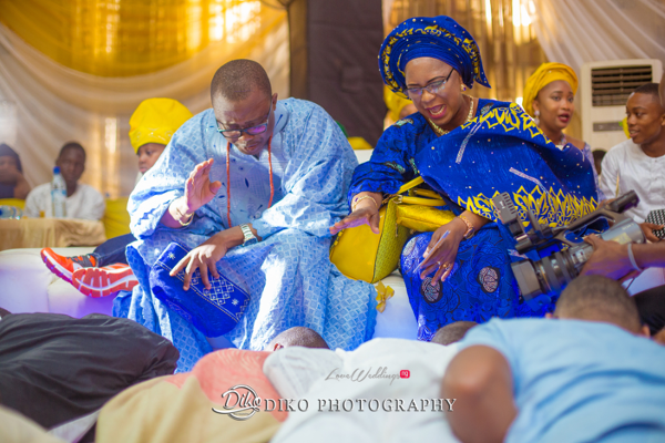 Nigerian Traditional Yoruba Groom Postrate Adefunke & Adebola Diko Photography LoveweddingsNG