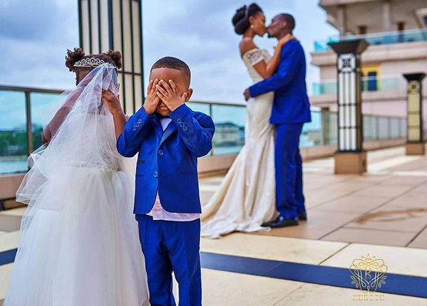 Nigerian Wedding Bride Groom Kiss Obiageli and Chiedu Keziie LoveweddingsNG