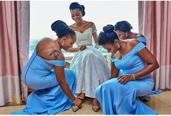 Nigerian Wedding Bride and Bridesmaids Obiageli and Chiedu Keziie LoveweddingsNG