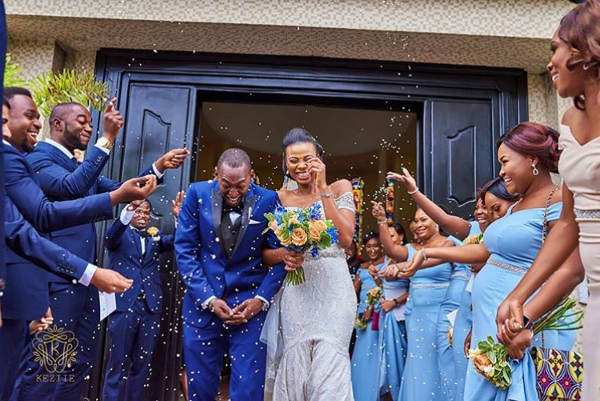 Nigerian Wedding Bride and Groom Confetti Obiageli and Chiedu Keziie LoveweddingsNG