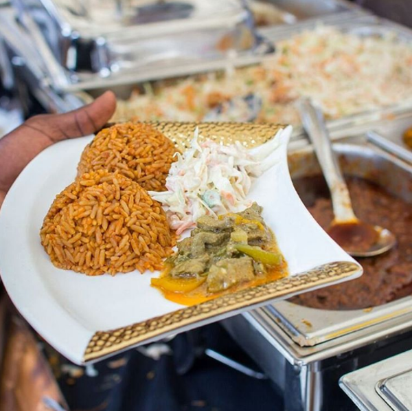 Nigerian Wedding Caterer Jollof Rice Goldielux Catering and Events LoveweddingsNG