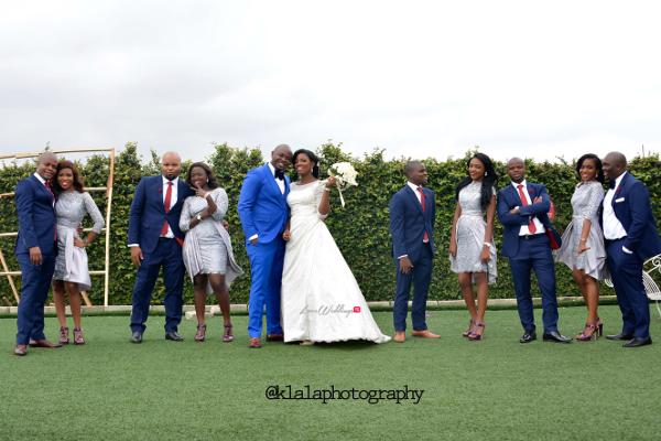 Nigerian Wedding Couple and Bridal Train Bukky & Poju Klala Photography LoveweddingsNG
