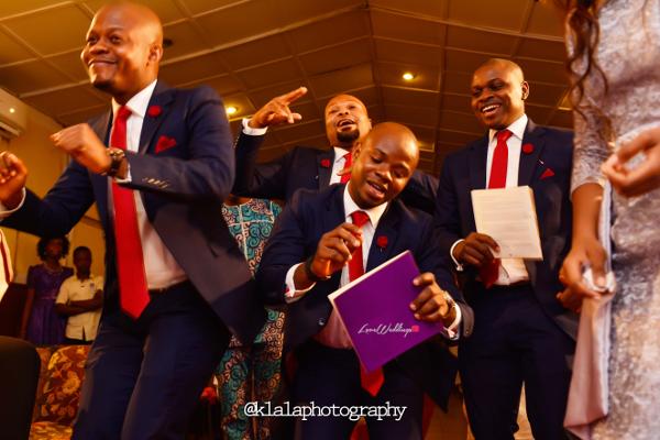 Nigerian Wedding Groomsmen Dancing Bukky & Poju Klala Photography LoveweddingsNG 1