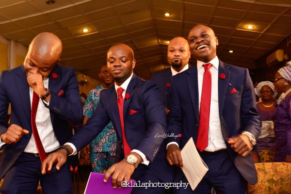 Nigerian Wedding Groomsmen Dancing Bukky & Poju Klala Photography LoveweddingsNG
