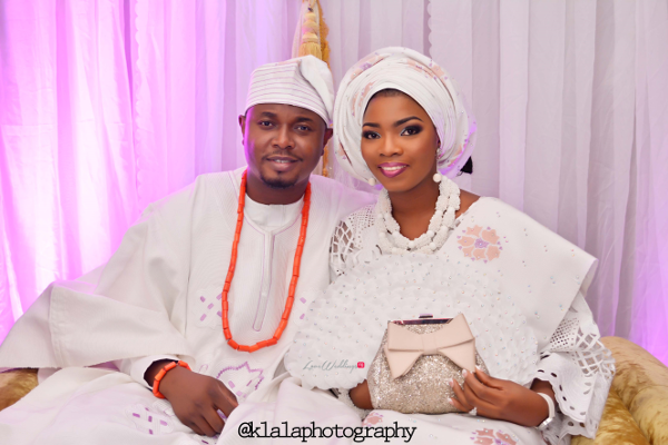 Nigerian Wedding Traditional Bride & Groom Bukky & Poju Klala Photography LoveweddingsNG