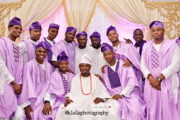 Nigerian Wedding Traditional Groom and Groomsman Bukky & Poju Klala Photography LoveweddingsNG
