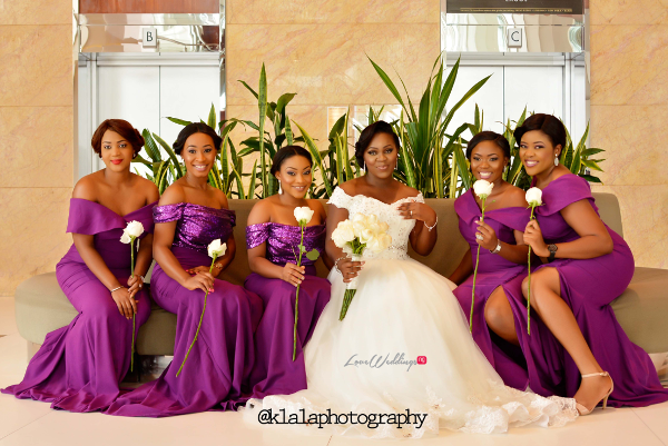 Nigerian White Wedding - Bride and Bridesmaids Folake and Ifeoluwa Klala Photography LoveweddingsNG 1