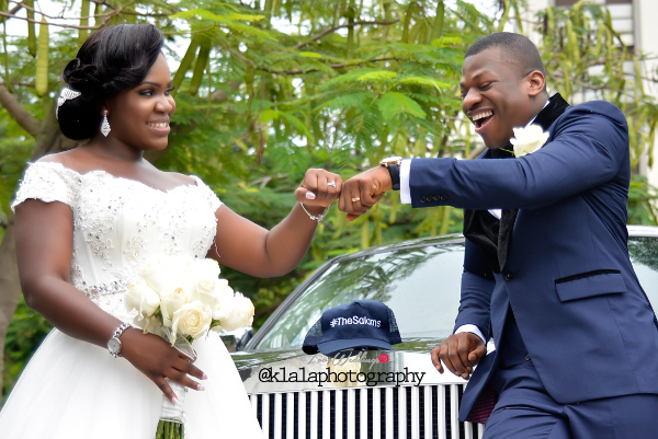 Nigerian White Wedding - Bride and Groom Folake and Ifeoluwa Klala Photography LoveweddingsNG 1