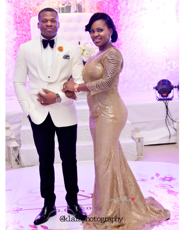 Nigerian White Wedding - Bride and Groom Folake and Ifeoluwa Reception Outfit Klala Photography LoveweddingsNG