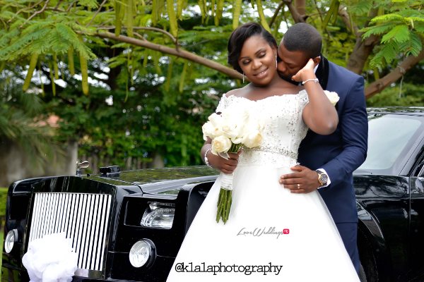 Nigerian White Wedding - Bride and Groom Kiss Folake and Ifeoluwa Klala Photography LoveweddingsNG