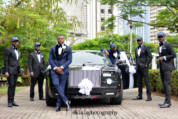 Nigerian White Wedding - Bride and Groom and Groomsmen Snapback Folake and Ifeoluwa Klala Photography LoveweddingsNG 1