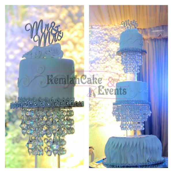 Nigerian White Wedding Cake Kemlah Cakes LoveweddingsNG