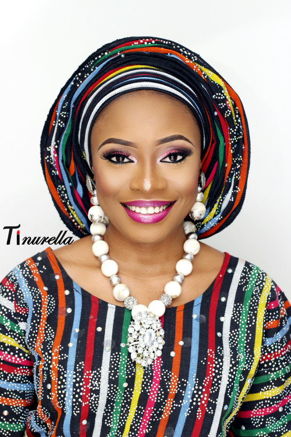 Nigerian Traditional Bridal Aso Oke Head to toe Tinurella LoveWeddingsNG