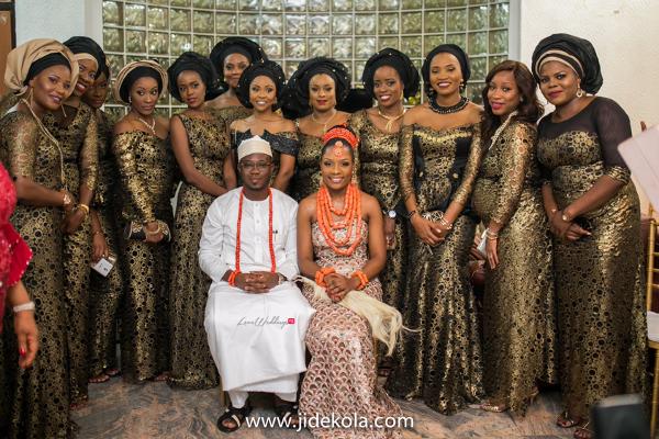 nigerian-traditional-bride-groom-and-aso-ebi-girls-chioma-agha-and-wale-ayorinde-loveweddingsng