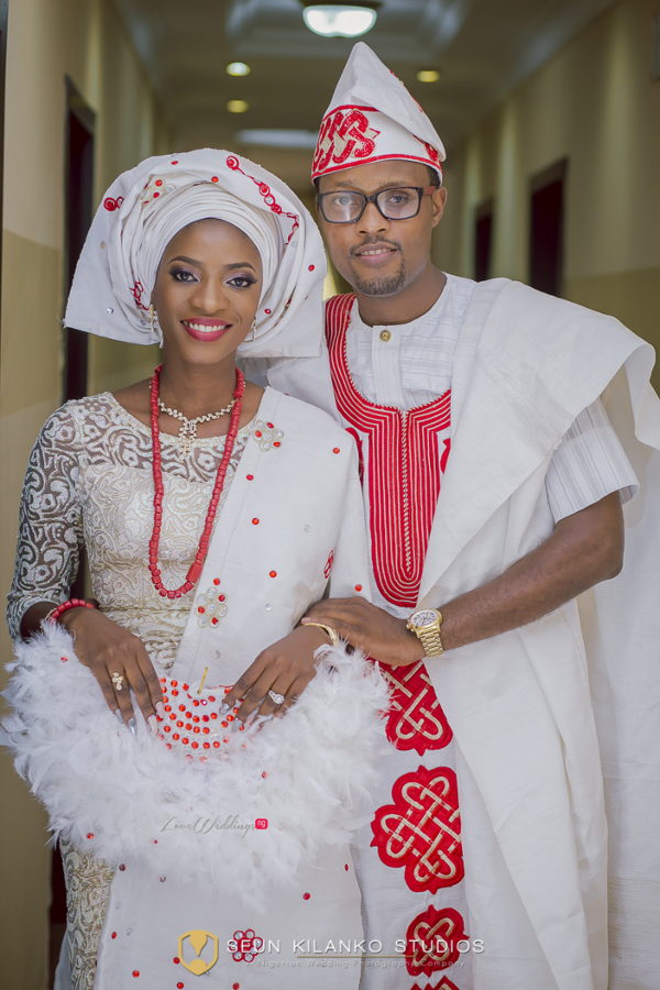 Nigerian Traditional Bride and Groom Lamide and Biodun Seun Kilanko Studios LoveweddingsNG