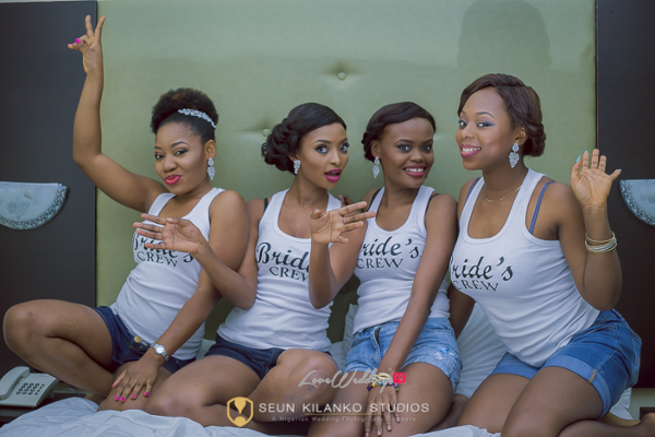 Nigerian White Wedding Bridesmaids Lamide and Biodun Seun Kilanko Studios LoveweddingsNG