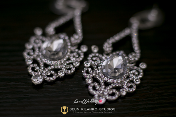 Nigerian White Wedding Details - Bridal Earrings Lamide and Biodun Seun Kilanko Studios LoveweddingsNG