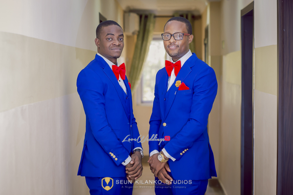 Nigerian White Wedding Groom and Best man Lamide and Biodun Seun Kilanko Studios LoveweddingsNG