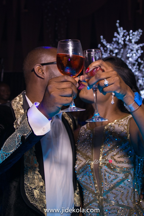 nigerian-bride-and-groom-cheers-chioma-wale-ayorinde-jide-kola-loveweddingsng