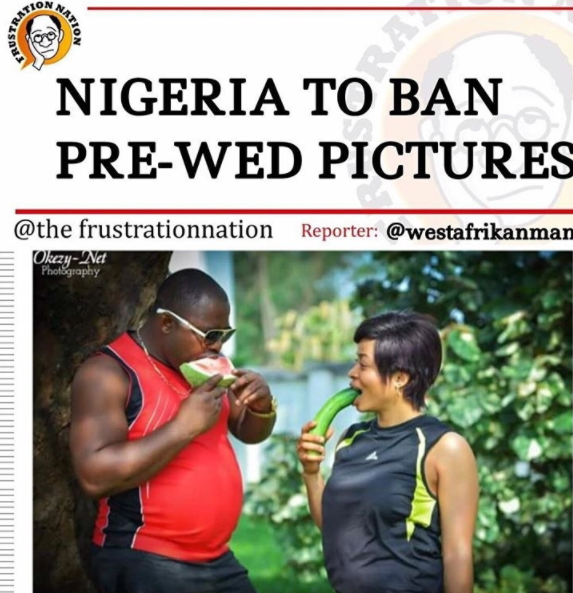 Funny Nigerian PreWedding Picture LoveWeddingsNG
