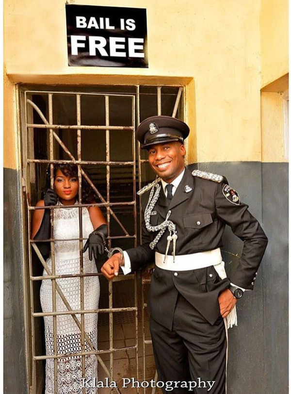 Nigerian Funny Wedding Picture Police Bail Klala Photography LoveWeddingsNG