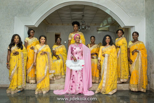 nigerian-indian-bride-and-bridesmaids-solange-pose-faji2016-jide-kola-loveweddingsng