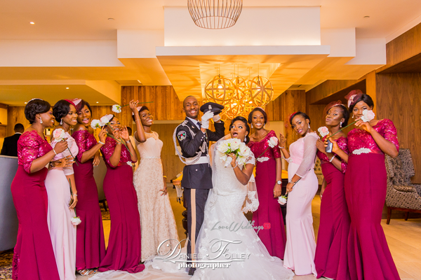 nigerian-police-wedding-ify-and-chisom-couple-and-bridesmaids-the-event-girl-ng-loveweddingsng