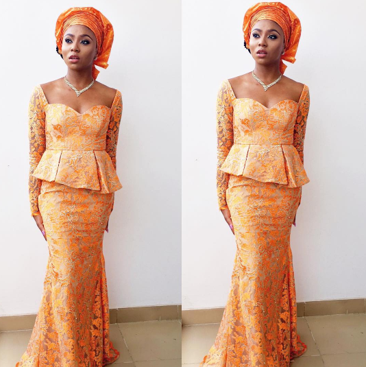 stephanie-coker-from-instagram-with-style-loveweddingsng-orange-aso-ebi