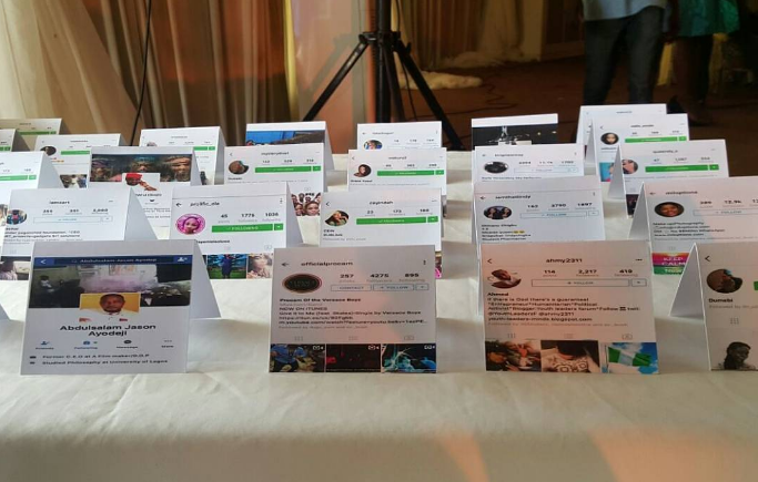 Adaugo and Uche's Nigerian Social Media Themed Wedding Guest Place Tags IPC Events LoveWeddingsNG 1