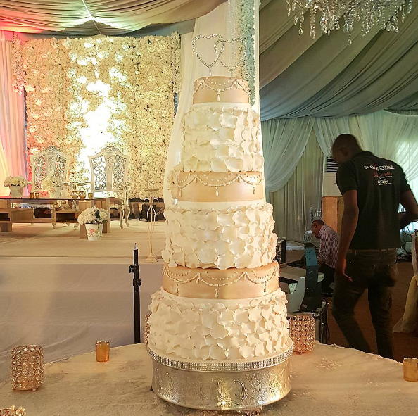 Adaugo and Uche's Nigerian Wedding Cake IPC Events LoveWeddingsNG