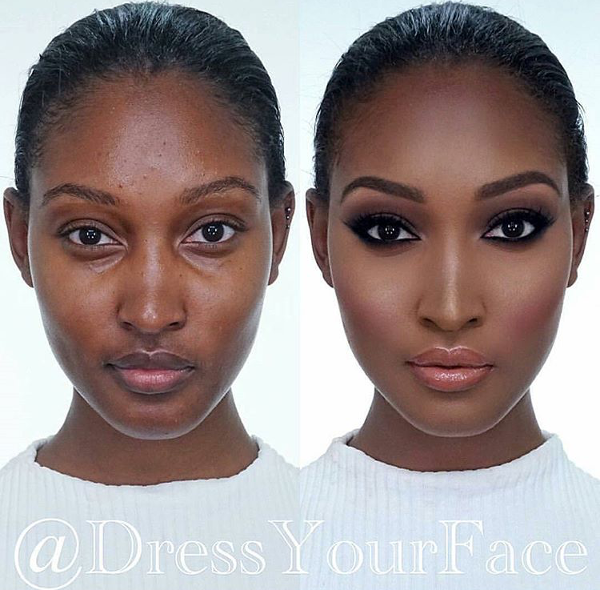Nigerian Bridal Makeup Before and After Dress Your Face LoveweddingsNG