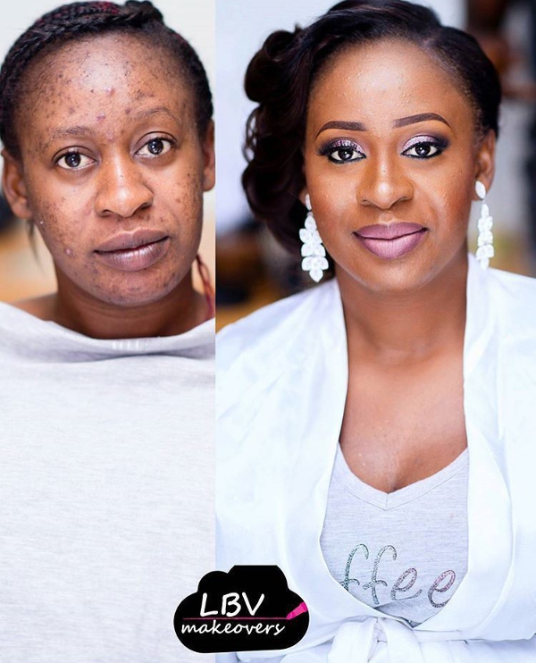 Nigerian Bridal Makeup Before and After LBV Makeover LoveweddingsNG