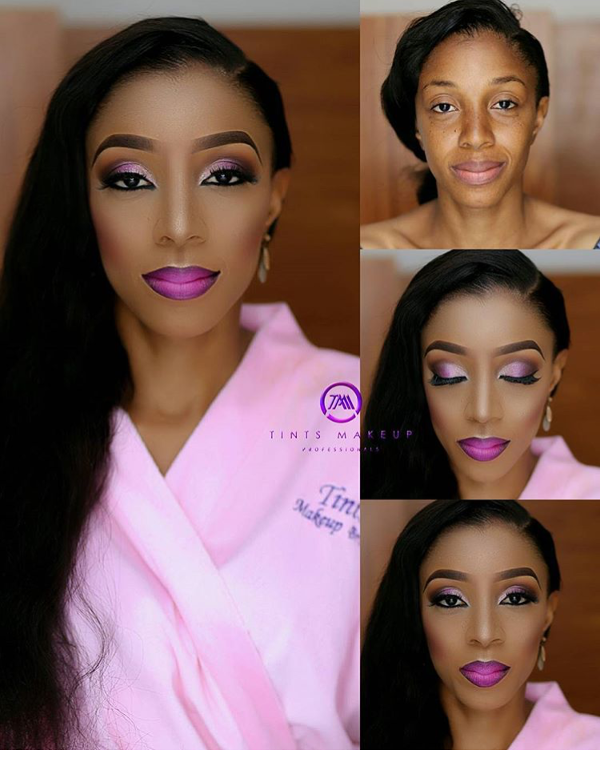 Nigerian Bridal Makeup Before and After Tnts Makeup LoveweddingsNG