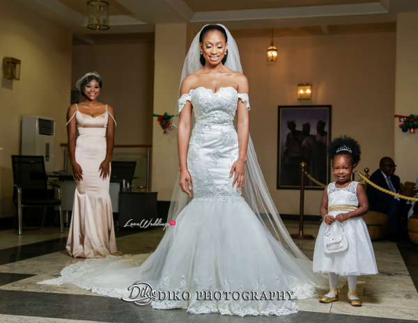 Nigerian Bride, Maid of Honor and Little Bride Solange Amaka and Oba 3003 Events LoveWeddingsNG