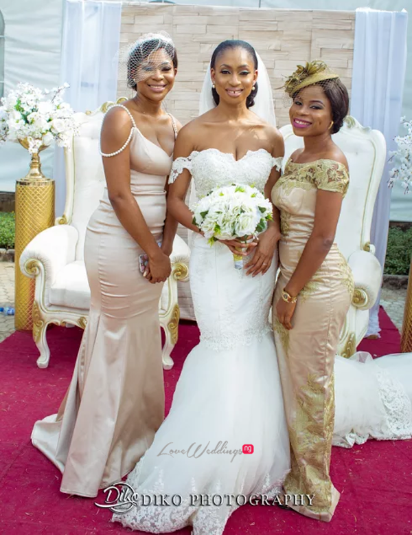 Nigerian Bride and Bridesmaids Amaka and Oba 3003 Events LoveWeddingsNG