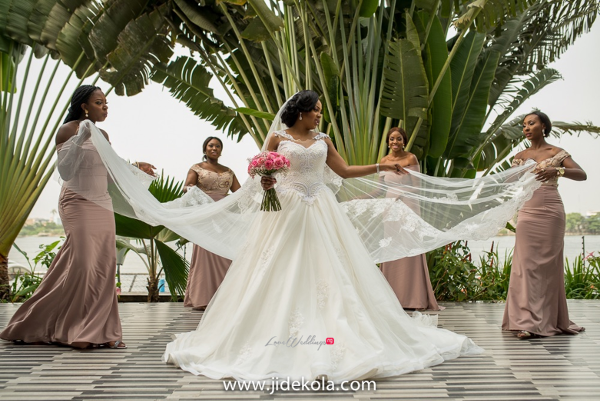Nigerian Bride and Bridesmaids in Ankara tops - Prince Kasali and Olori Abisoye Jide Kola LoveWeddingsNG