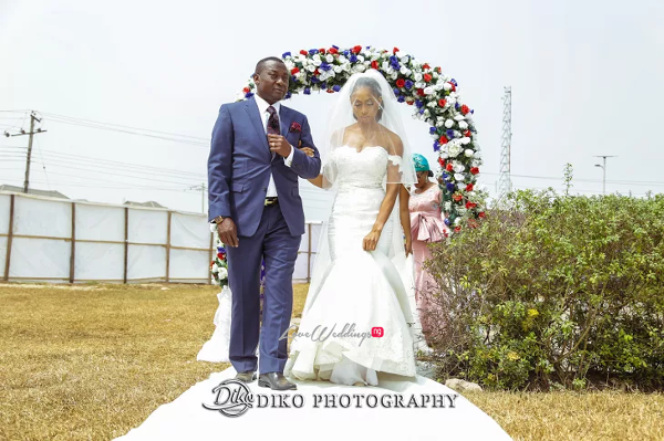 Nigerian Bride and Dad Amaka and Oba 3003 Events LoveWeddingsNG 1