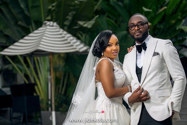 Nigerian Bride and Groom Prince Kasali and Olori Abisoye Jide Kola LoveWeddingsNG