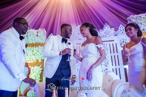 Nigerian Bride and Groom Toast Amaka and Oba 3003 Events LoveWeddingsNG