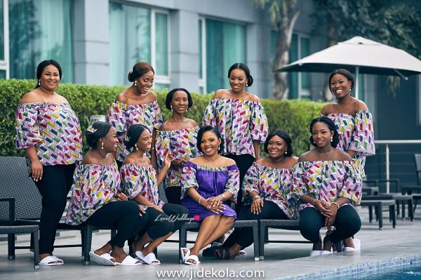 Nigerian Brides and Bridesmaids in Ankara tops - Prince Kasali and Olori Abisoye Jide Kola LoveWeddingsNG 1