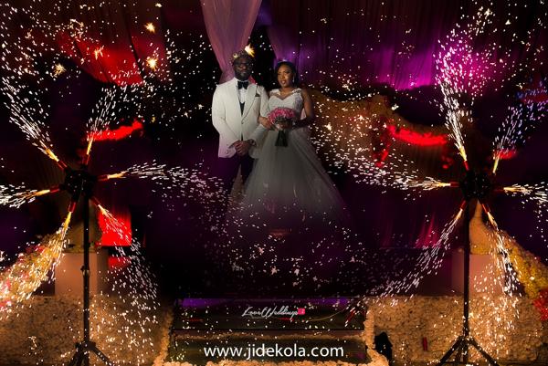 Nigerian Couple Sparklers - Prince Kasali and Olori Abisoye Jide Kola LoveWeddingsNG