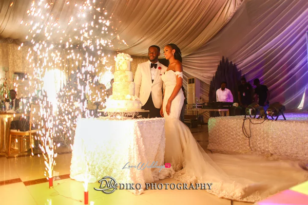 Nigerian Couple cutting the cake Amaka and Oba 3003 Events LoveWeddingsNG 1