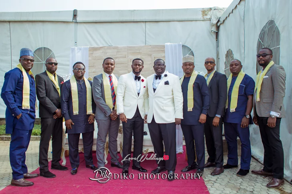 Nigerian Groom and Friends Amaka and Oba 3003 Events LoveWeddingsNG