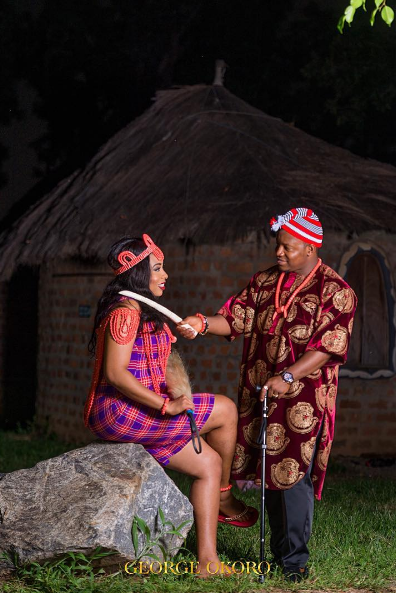 Nigerian Traditional Themed PreWedding Shoot Adaugo and Uche George Okoro LoveWeddingsNG 1