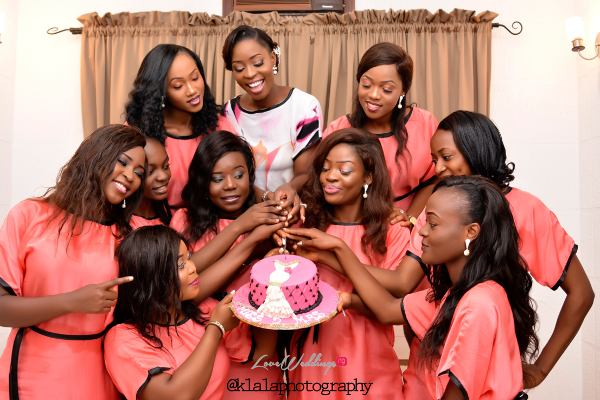 Nigerian Bride and Bridesmaids in Robes Dami and Bayo Klala Photography LoveweddingsNG