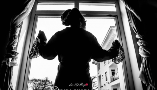 Nigerian Bride in robe Toyosi Ilupeju and Wole Makinwa WED Dream Wedding Details Diko Photography LoveWeddingsNG 1